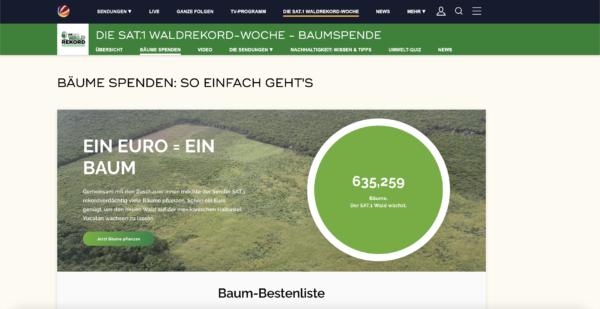 Screenshot Waldrekordwoche Sat1
