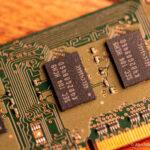 Nahaufnahme von einem RAM-Riegel