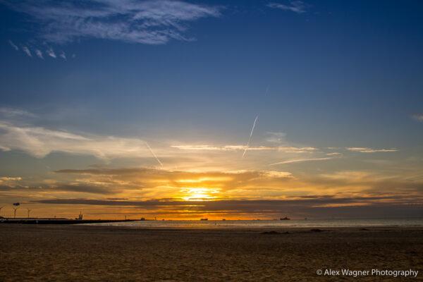 Hoek van Holland Strand Sonnenuntergang