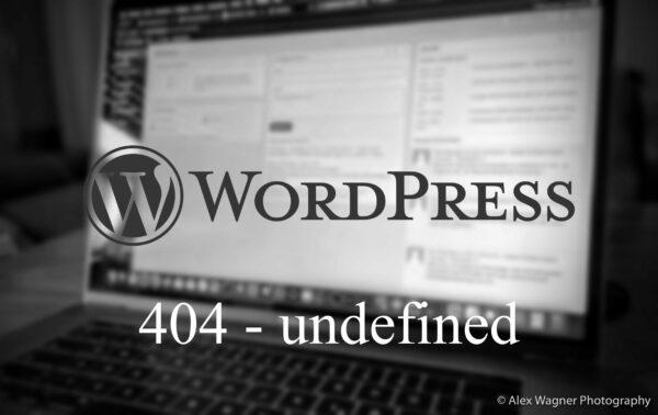 Wordpress 404 /undefined Wallpaper